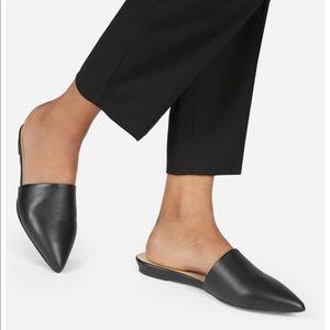EVERLANE black leather mules